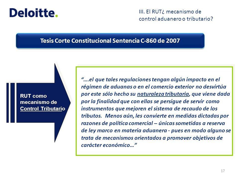 Tesis Corte Constitucional Sentencia C-860 de 2007 ….el que tales regulaciones tengan algún impacto en el régimen de aduanas o en el comercio exterior