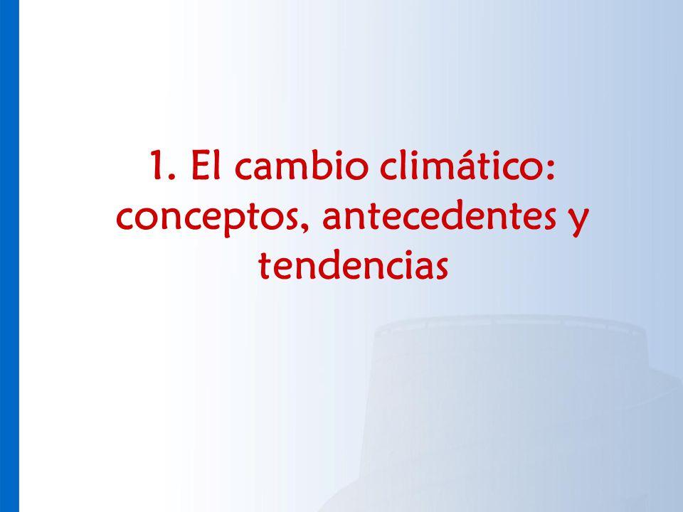 1. El cambio climático: conceptos, antecedentes y tendencias