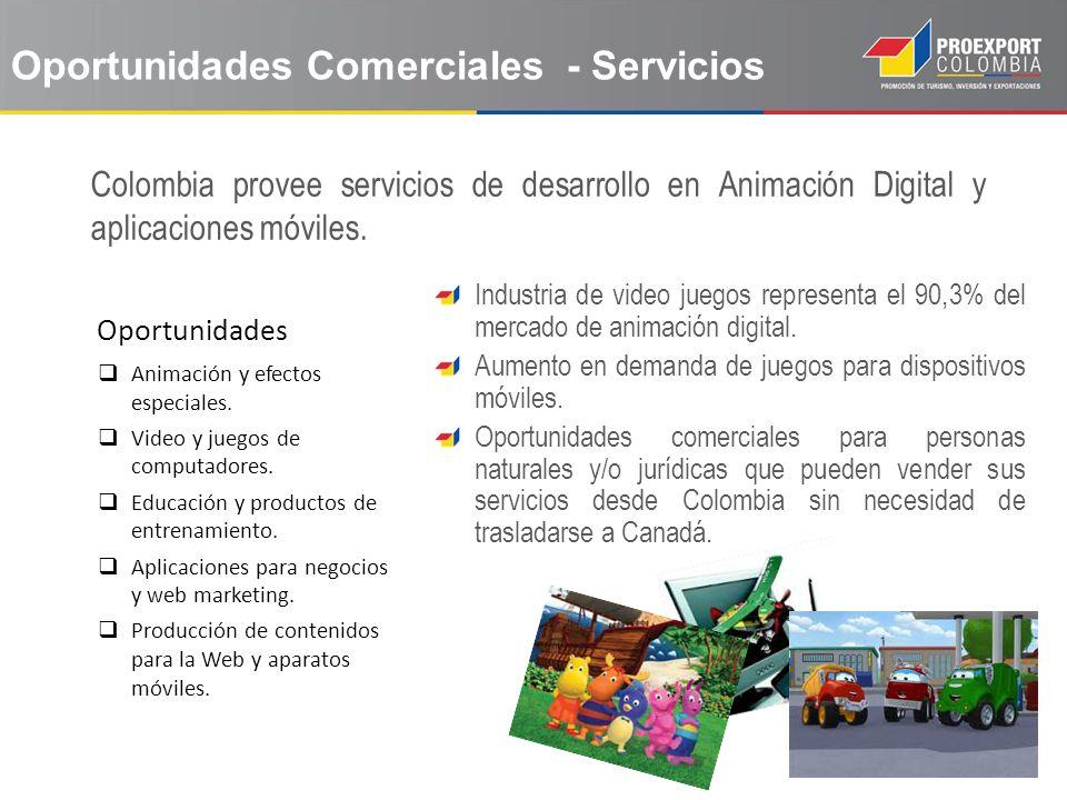 Oportunidades Animación y efectos especiales. Video y juegos de computadores. Educación y productos de entrenamiento. Aplicaciones para negocios y web