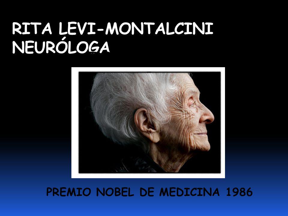 RITA LEVI-MONTALCINI NEURÓLOGA PREMIO NOBEL DE MEDICINA 1986 TURIN 22/04/1909