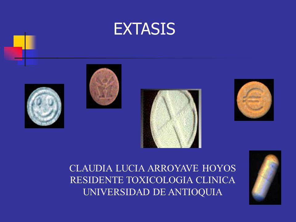 CLAUDIA LUCIA ARROYAVE HOYOS RESIDENTE TOXICOLOGIA CLINICA UNIVERSIDAD DE ANTIOQUIA EXTASIS