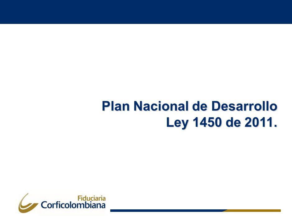 Plan Nacional de Desarrollo Ley 1450 de 2011.