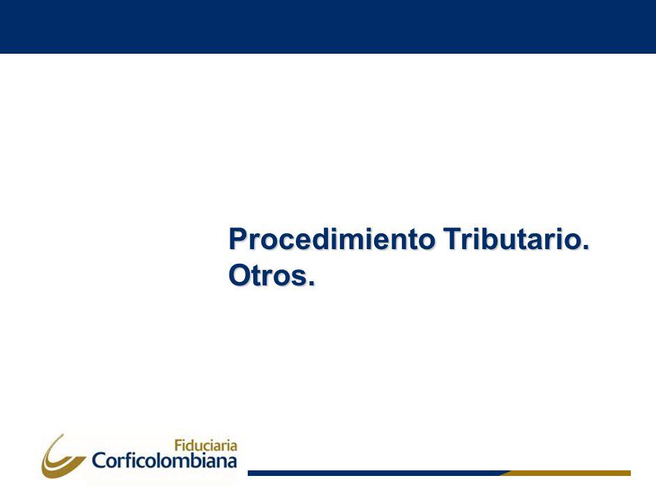 Procedimiento Tributario. Otros.