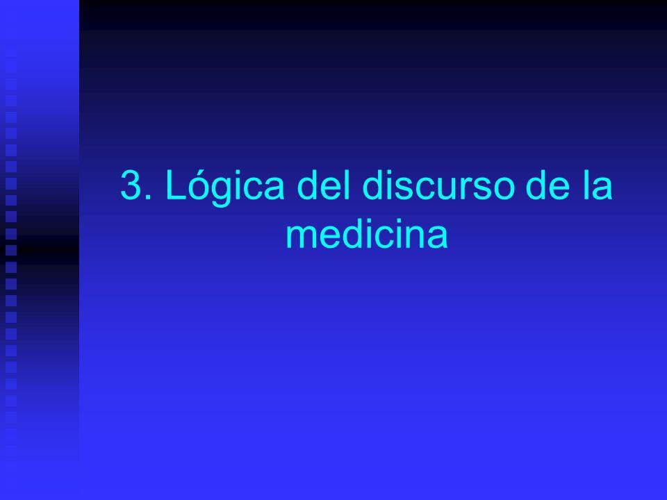 3. Lógica del discurso de la medicina