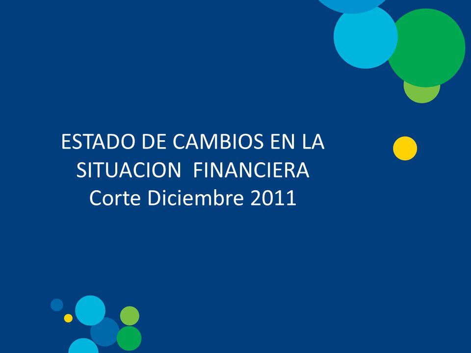 ESTADO DE CAMBIOS EN LA SITUACION FINANCIERA Corte Diciembre 2011