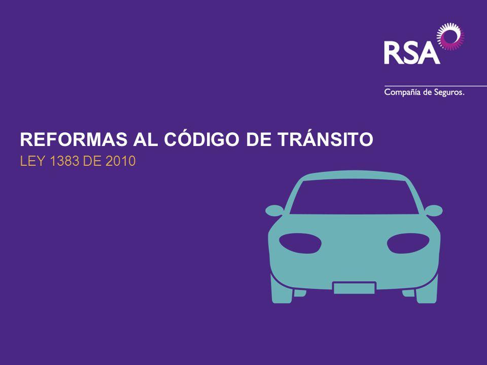 REFORMAS AL CÓDIGO DE TRÁNSITO LEY 1383 DE 2010