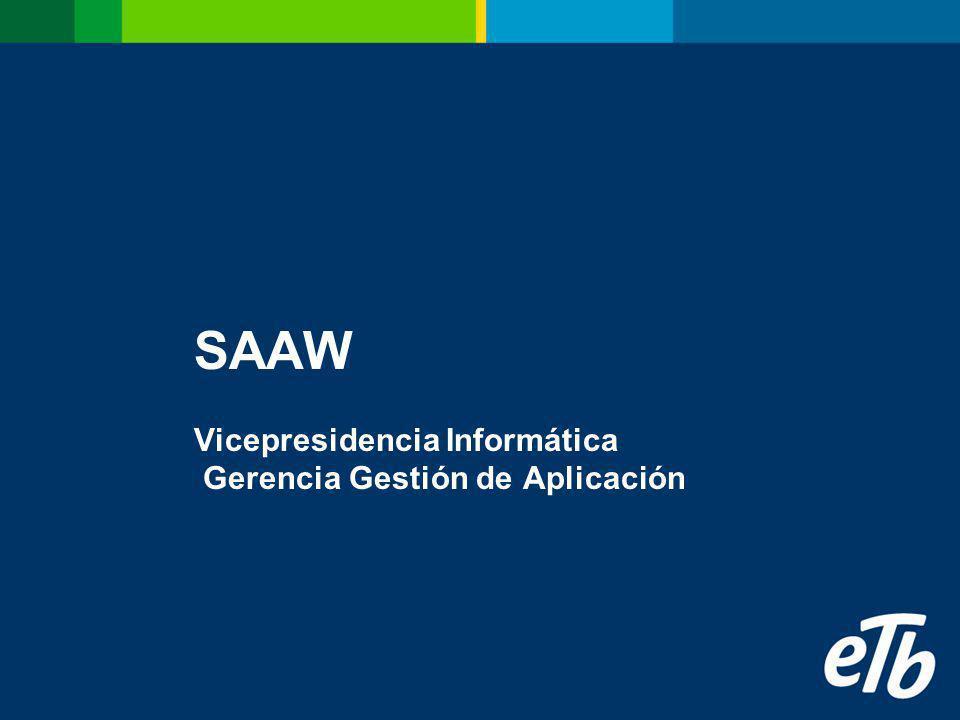 SAAW Vicepresidencia Informática Gerencia Gestión de Aplicación