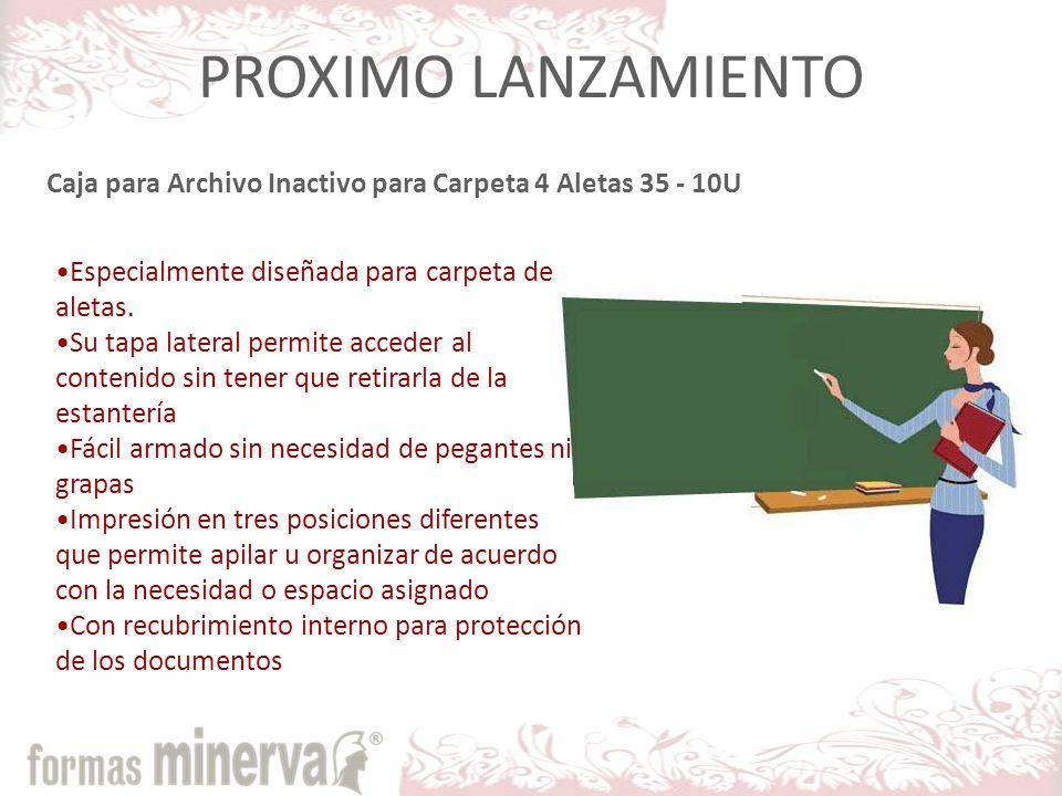 PROXIMO LANZAMIENTO Especialmente diseñada para carpeta de aletas.