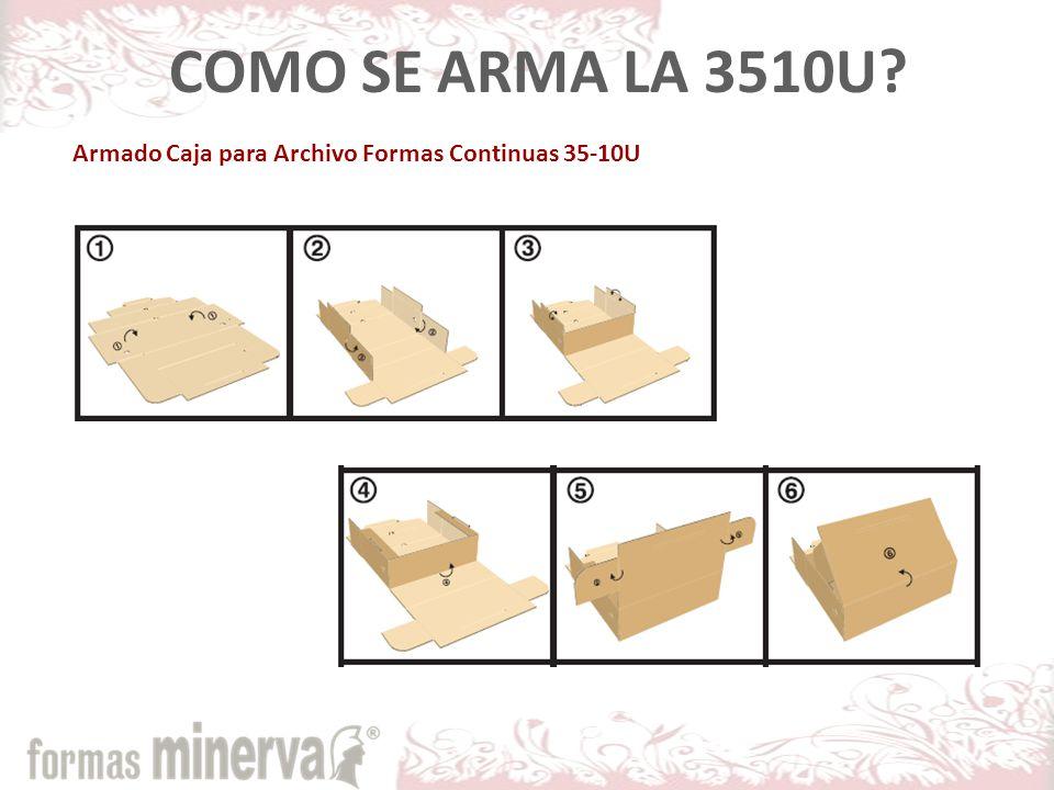 Armado Caja para Archivo Formas Continuas 35-10U COMO SE ARMA LA 3510U?
