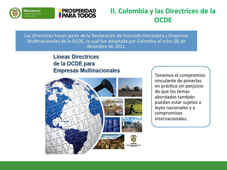 II. Colombia y las Directrices de la OCDE
