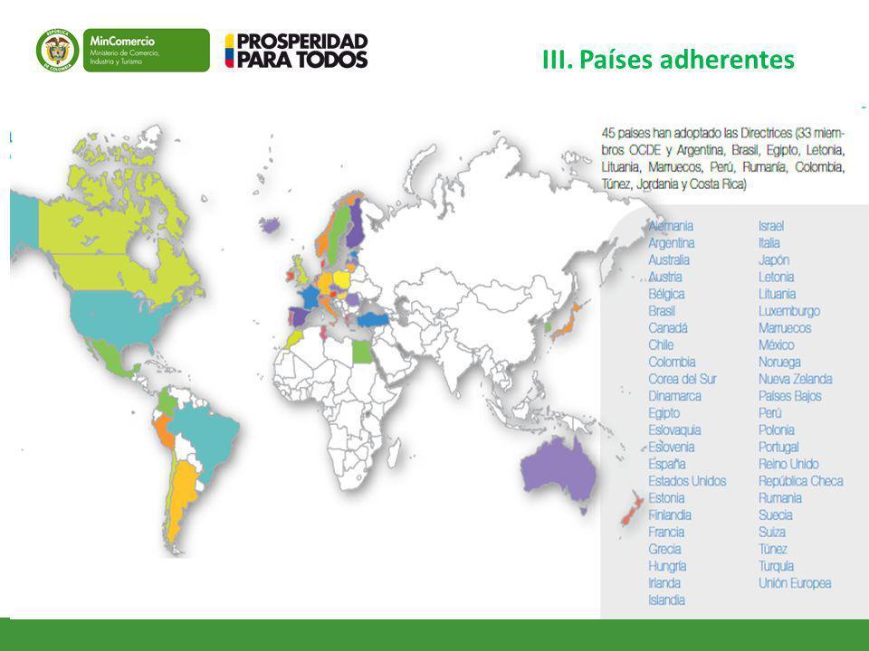 III. Países adherentes