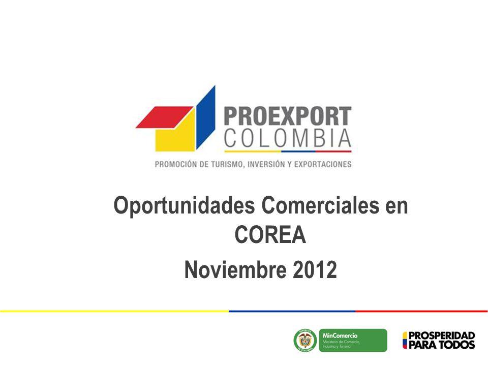 Oportunidades Comerciales en COREA Noviembre 2012