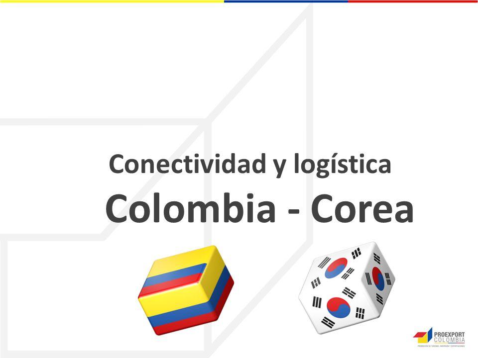 Conectividad y logística Colombia - Corea