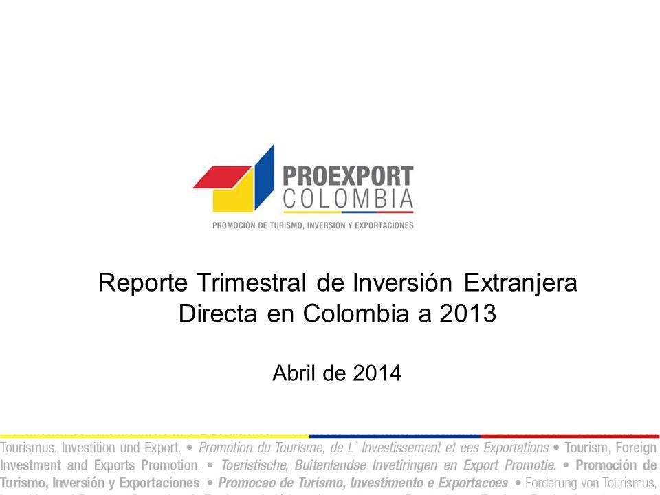 Casos de inversión identificados en Colombia.