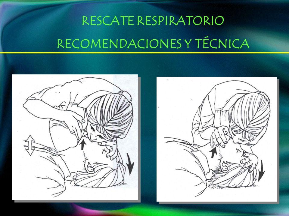 RESCATE RESPIRATORIO RECOMENDACIONES Y TÉCNICA