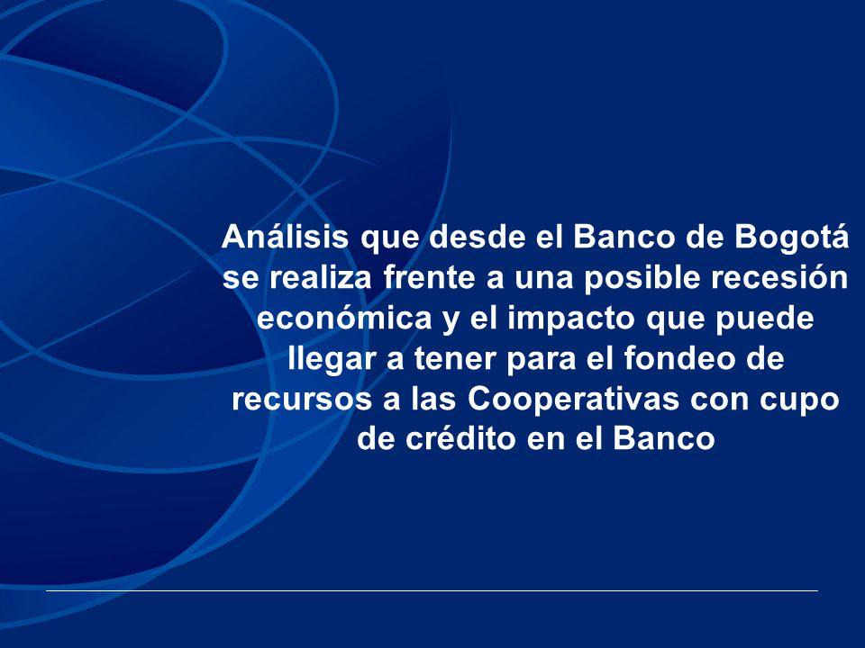 Análisis que desde el Banco de Bogotá se realiza frente a una posible recesión económica y el impacto que puede llegar a tener para el fondeo de recur