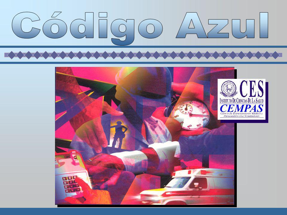 CÓDIGO AZUL Organización de personal entrenado para manejo coordinado de la R.C.P Concepto