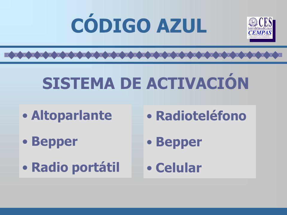SISTEMA DE ACTIVACIÓN Altoparlante Bepper Radio portátil CÓDIGO AZUL Radioteléfono Bepper Celular