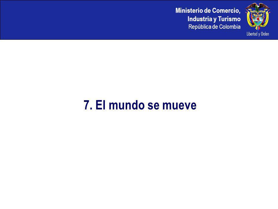 Ministerio de Comercio, Industria y Turismo República de Colombia 7. El mundo se mueve