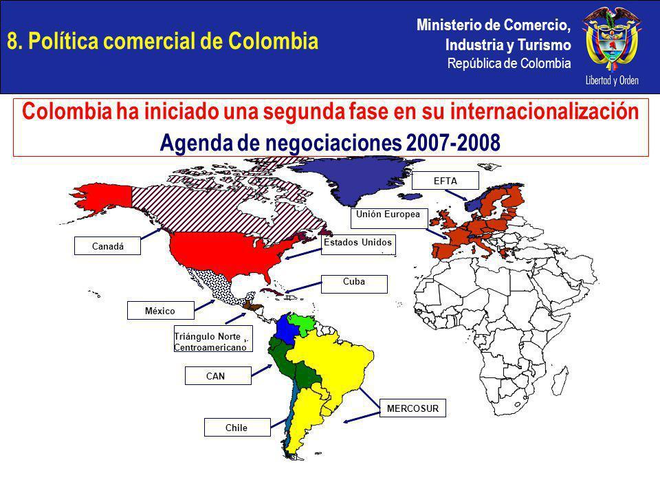Ministerio de Comercio, Industria y Turismo República de Colombia Colombia ha iniciado una segunda fase en su internacionalización Agenda de negociaci