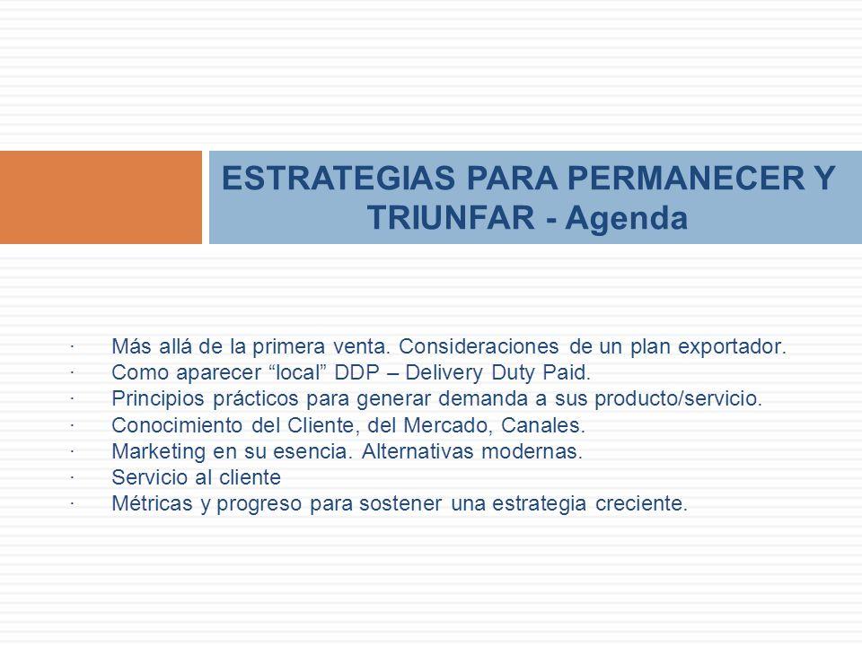ESTRATEGIAS PARA PERMANECER Y TRIUNFAR - Agenda