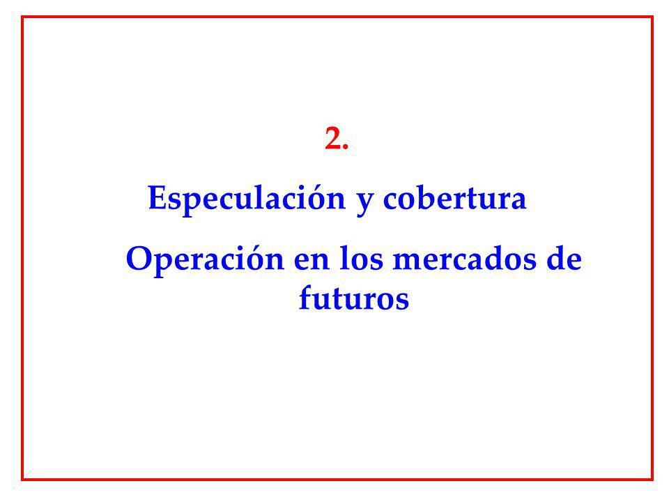 2. Especulación y cobertura Operación en los mercados de futuros