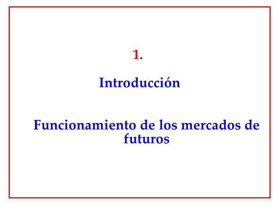 1. Introducción Funcionamiento de los mercados de futuros