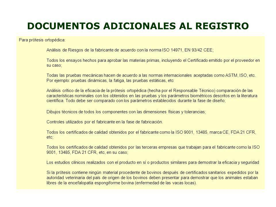30 UP TO 150 DAYS 30 UP TO 150 DAYS CRITICAL ANALISYS DOCUMENTATION FROM MANUFACTURER PREPARATION OF TECHNICAL DOSSIER IN LOCAL LANGUAGE PAYMENT OF TAXES SUBMISSION IN LOCAL REGULATORY AUTHORITIES ANALISYS BY LOCAL REGULATORY AUTHORITIES FINAL APPROVAL CERTIFICATION or REQUIRED LOCAL TESTS CERTIFICATION or REQUIRED LOCAL TESTS ORGANIGRAMA DE REGISTTRACION DE PRODUCTOS MEDICOS / ODONTOLOGICOS PARA PRODUCTOS CLASSE DI RIESGO 2, 3 Y 4 ÉS REQUERIDA LA CBPF DE LA PLANTA PRODUCTIVA