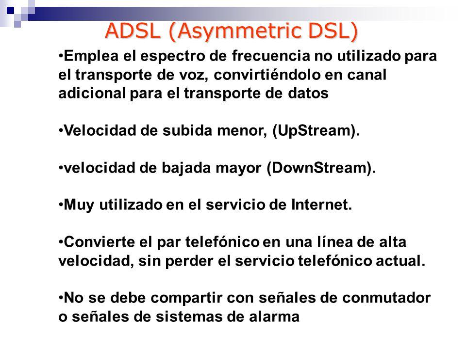 Técnicas de modulación ADSL CAP: sistema más antiguo, sencillo y de costo inferior.
