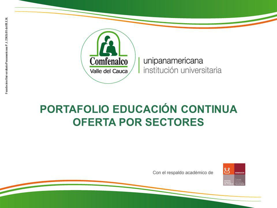 Fundación Universitaria Panamericana P.J.23635/81 del M.E.N.