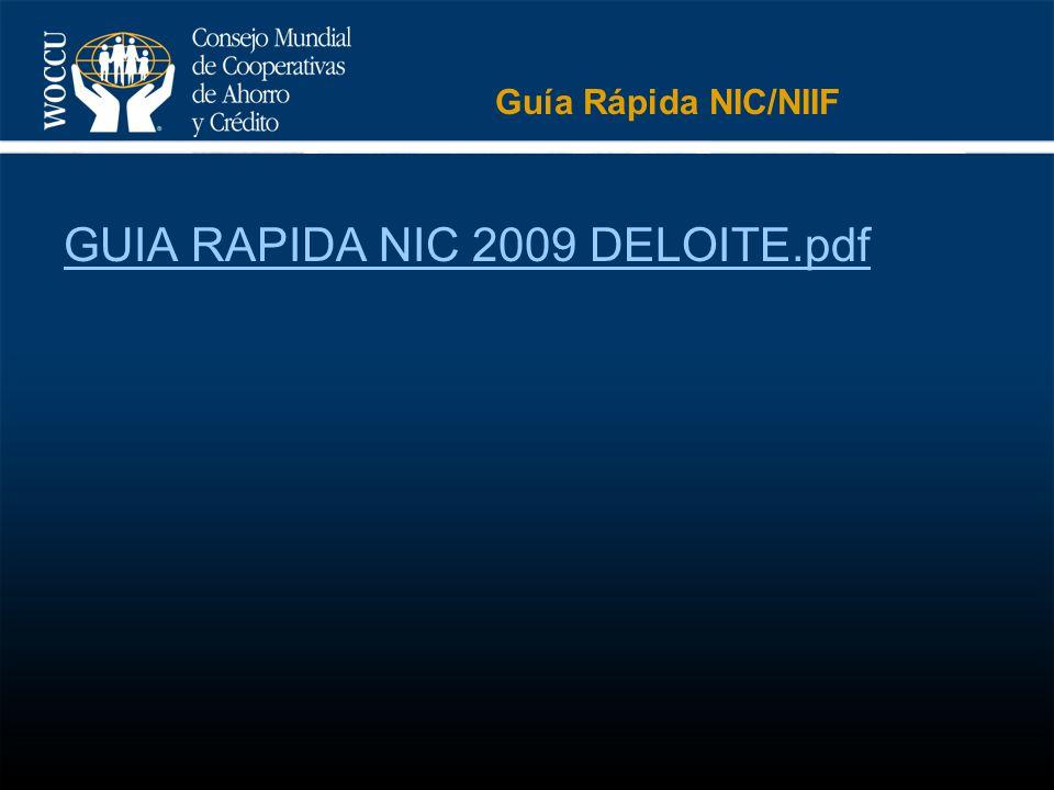 Guía Rápida NIC/NIIF GUIA RAPIDA NIC 2009 DELOITE.pdf