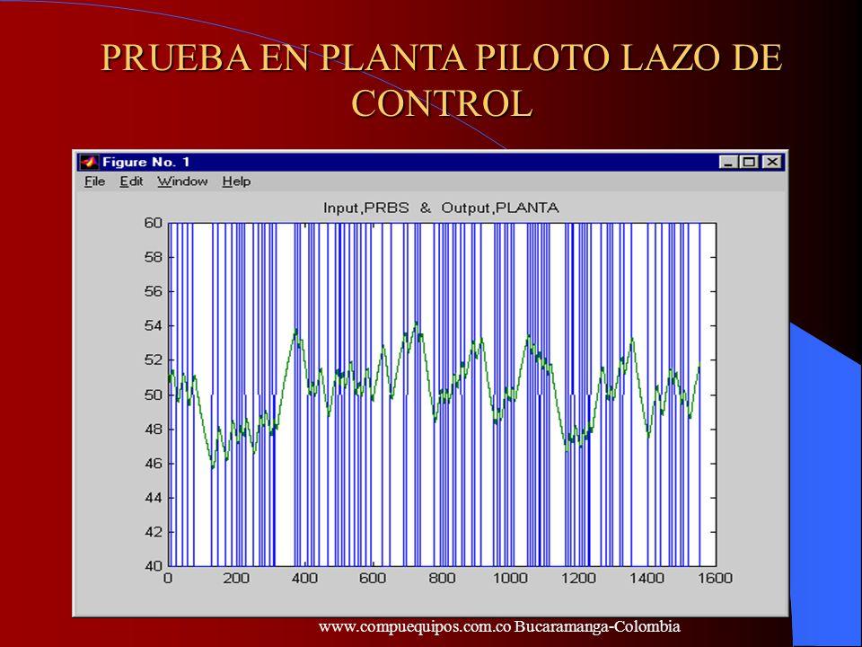 PRUEBA EN PLANTA PILOTO LAZO DE CONTROL www.compuequipos.com.co Bucaramanga-Colombia