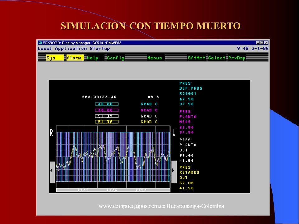 SIMULACION CON TIEMPO MUERTO www.compuequipos.com.co Bucaramanga-Colombia