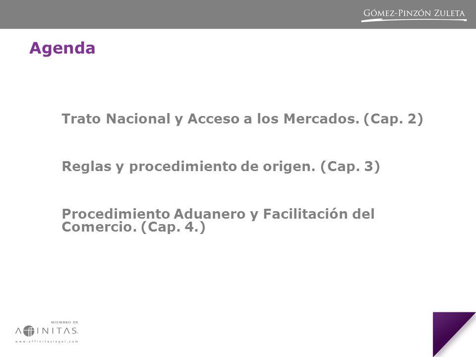 Agenda Trato Nacional y Acceso a los Mercados.(Cap.