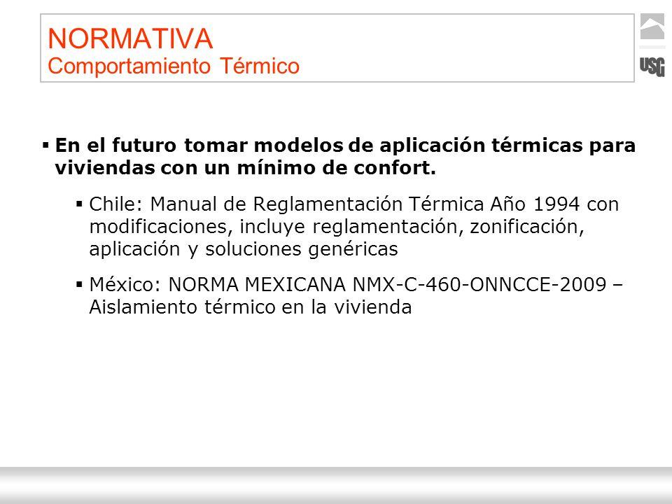 Aquí va el título de la presentación Ternium | Nombre Autor 11 NORMATIVA Comportamiento Térmico En el futuro tomar modelos de aplicación térmicas para