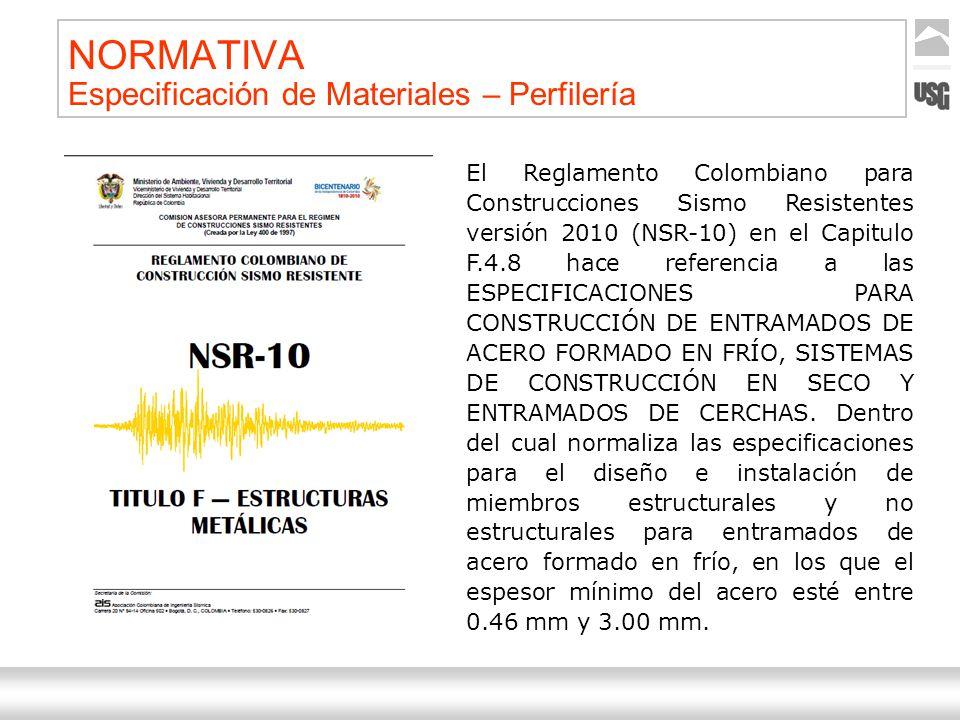 Aquí va el título de la presentación Ternium | Nombre Autor 19 NORMATIVA Especificación de Materiales – Perfilería El Reglamento Colombiano para Const