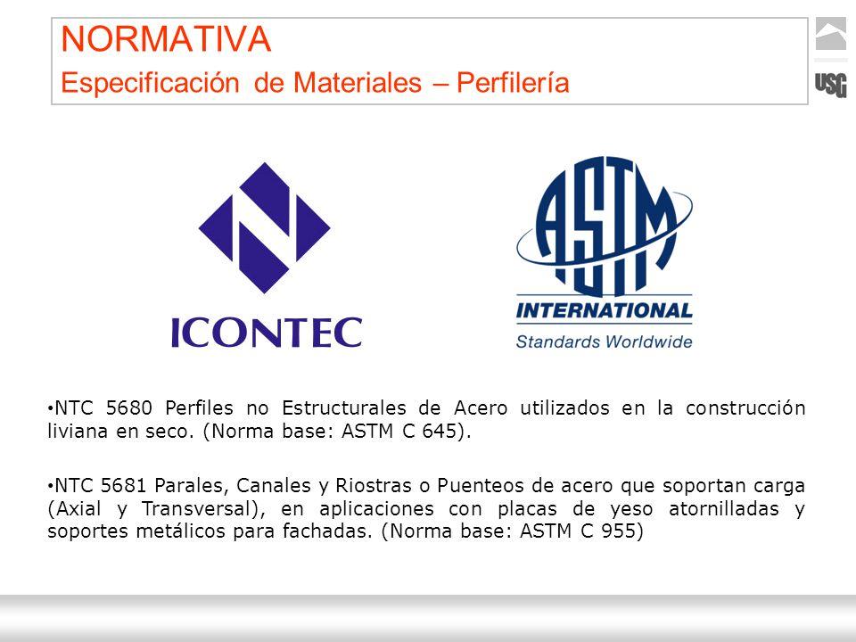 Aquí va el título de la presentación Ternium | Nombre Autor 20 NORMATIVA Especificación de Materiales – Perfilería NTC 5680 Perfiles no Estructurales