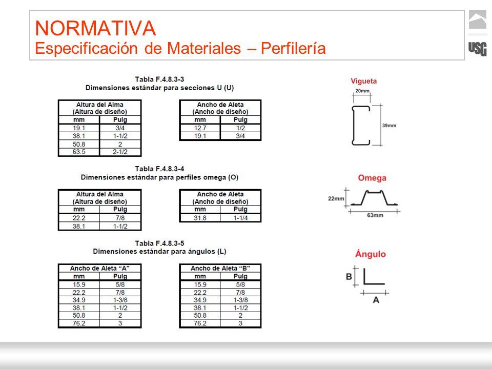 Aquí va el título de la presentación Ternium | Nombre Autor 25 NORMATIVA Especificación de Materiales – Perfilería