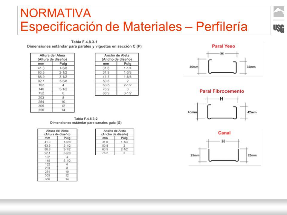 Aquí va el título de la presentación Ternium | Nombre Autor 26 NORMATIVA Especificación de Materiales – Perfilería