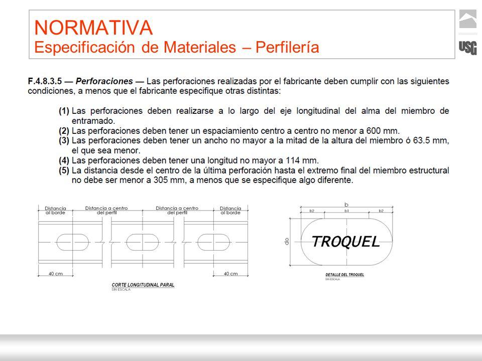 Aquí va el título de la presentación Ternium | Nombre Autor 28 NORMATIVA Especificación de Materiales – Perfilería