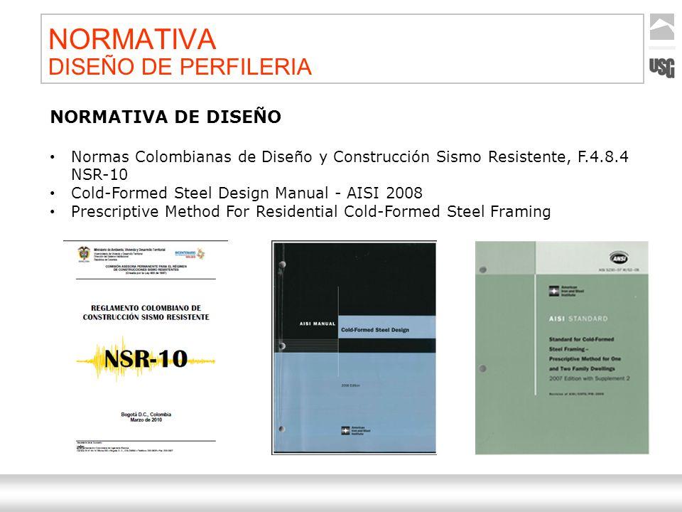 Aquí va el título de la presentación Ternium | Nombre Autor 39 NORMATIVA DISEÑO DE PERFILERIA NORMATIVA DE DISEÑO Normas Colombianas de Diseño y Const