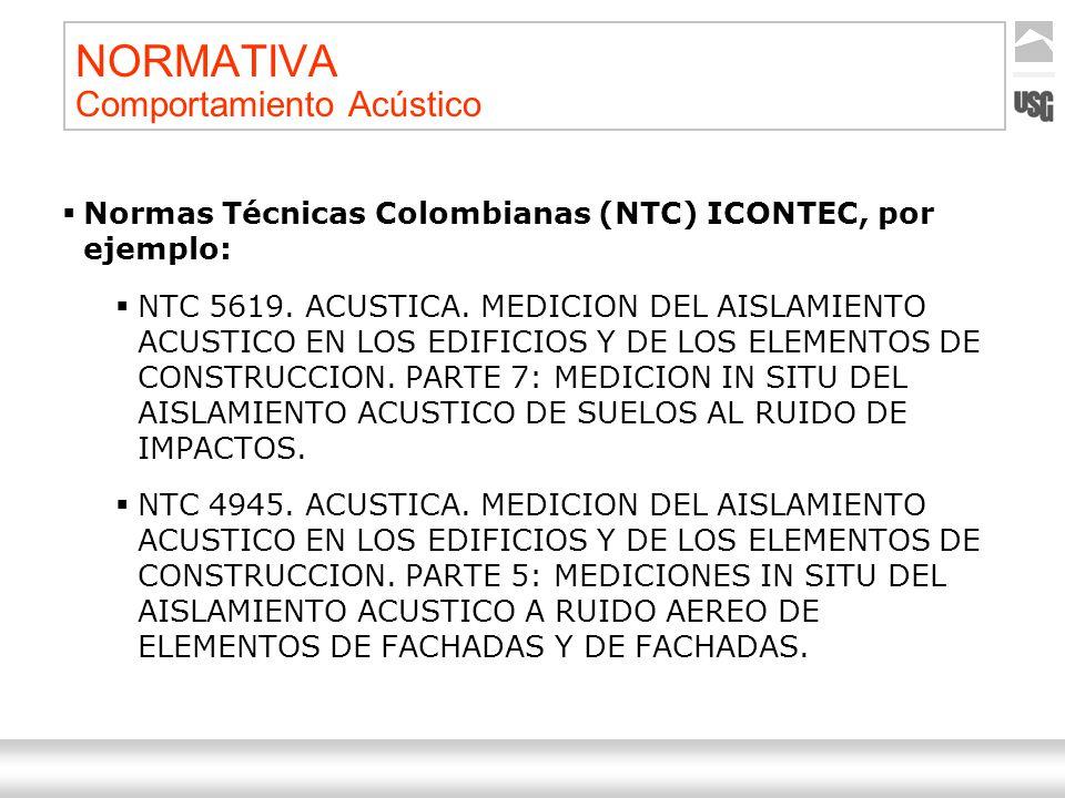 Aquí va el título de la presentación Ternium | Nombre Autor 8 NORMATIVA Comportamiento Acústico Normas Técnicas Colombianas (NTC) ICONTEC, por ejemplo