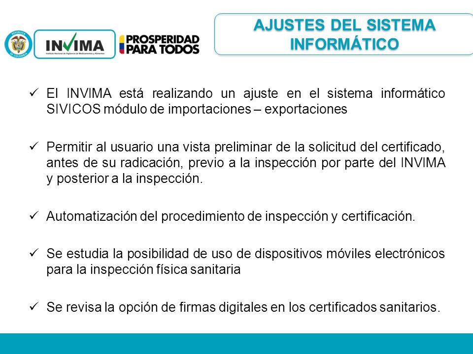 El INVIMA está realizando un ajuste en el sistema informático SIVICOS módulo de importaciones – exportaciones Permitir al usuario una vista preliminar