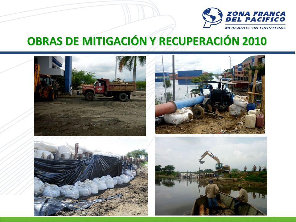 OBRAS DE MITIGACIÓN Y RECUPERACIÓN 2010