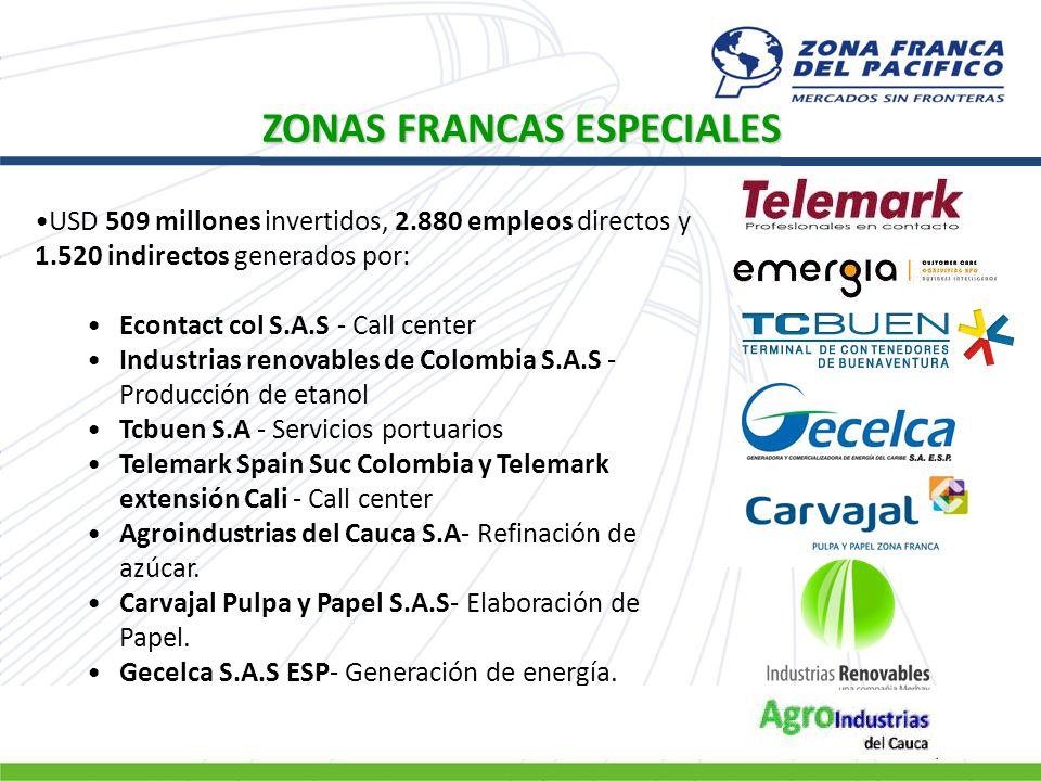 USD 509 millones invertidos, 2.880 empleos directos y 1.520 indirectos generados por: Econtact col S.A.S - Call center Industrias renovables de Colomb