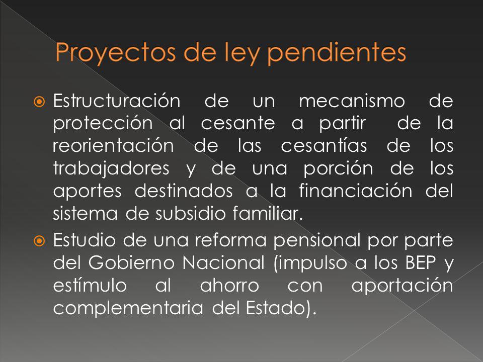 Adopción de la Ley de Víctimas Ley de Vivienda de Interés Prioritario Estatuto Anticorrupción Nuevo Régimen de Simplificación de Trámites Exámenes de aptitud a quienes laboren con porte de armas en el sector privado a cargo de las ARL