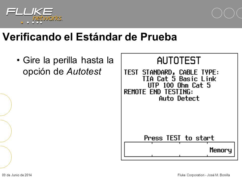 09 de Junio de 2014Fluke Corporation - José M. Bonilla Identificación del Informe Personalice sus reportes de acuerdo a cada uno de sus clientes: –Gua