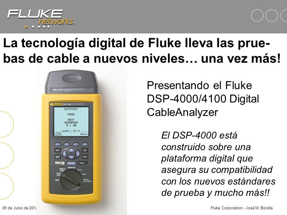 09 de Junio de 2014Fluke Corporation - José M. Bonilla Beneficios Operacionales (2) Un día completo de independencia: –Batería hasta para 8 horas de t