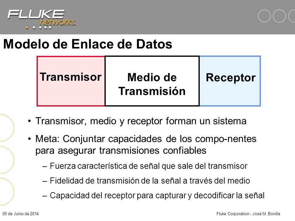 09 de Junio de 2014Fluke Corporation - José M. Bonilla Beneficios de Compatibilidad contra Estándares Seguridad de que el sistema de cableado soportar