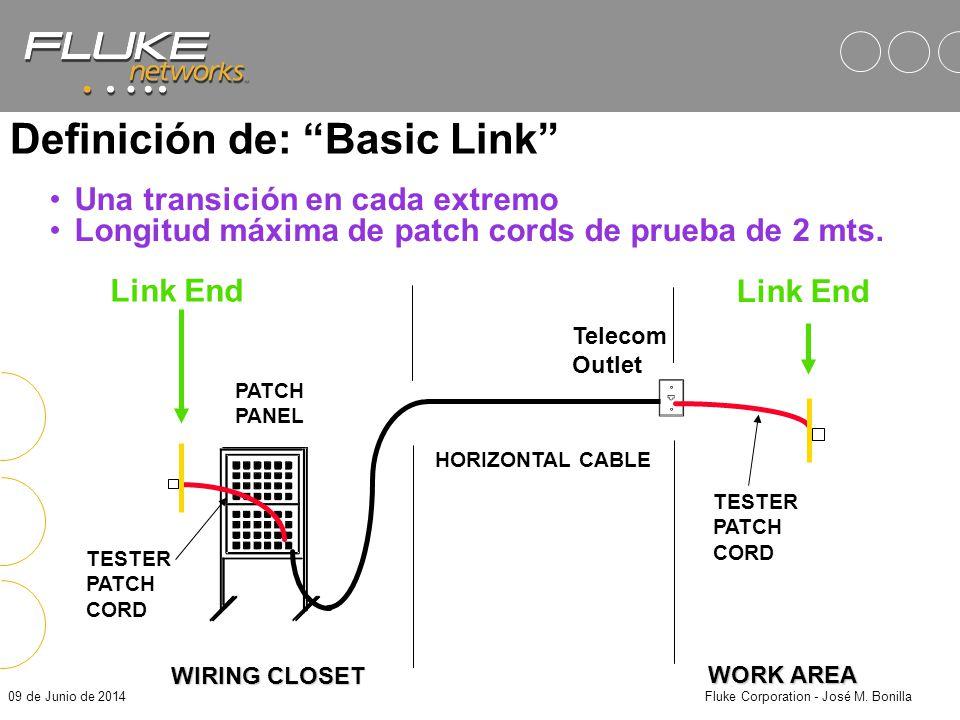 09 de Junio de 2014Fluke Corporation - José M. Bonilla Definición de: Channel USERS PATCH CORD PATCH PANEL HORIZONTAL CABLE Telecom Outlet USERS PATCH
